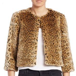 Sweaters - Leopard Cheetah Animal Faux Fur Jacket Medium